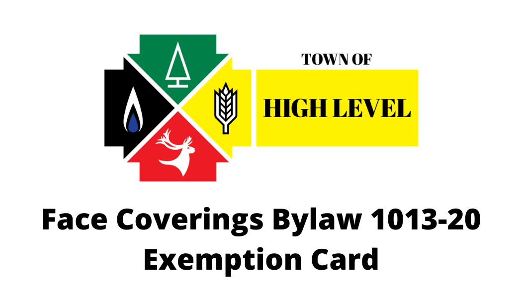 Face Coverings Bylaw 1013-20 Exemption Card