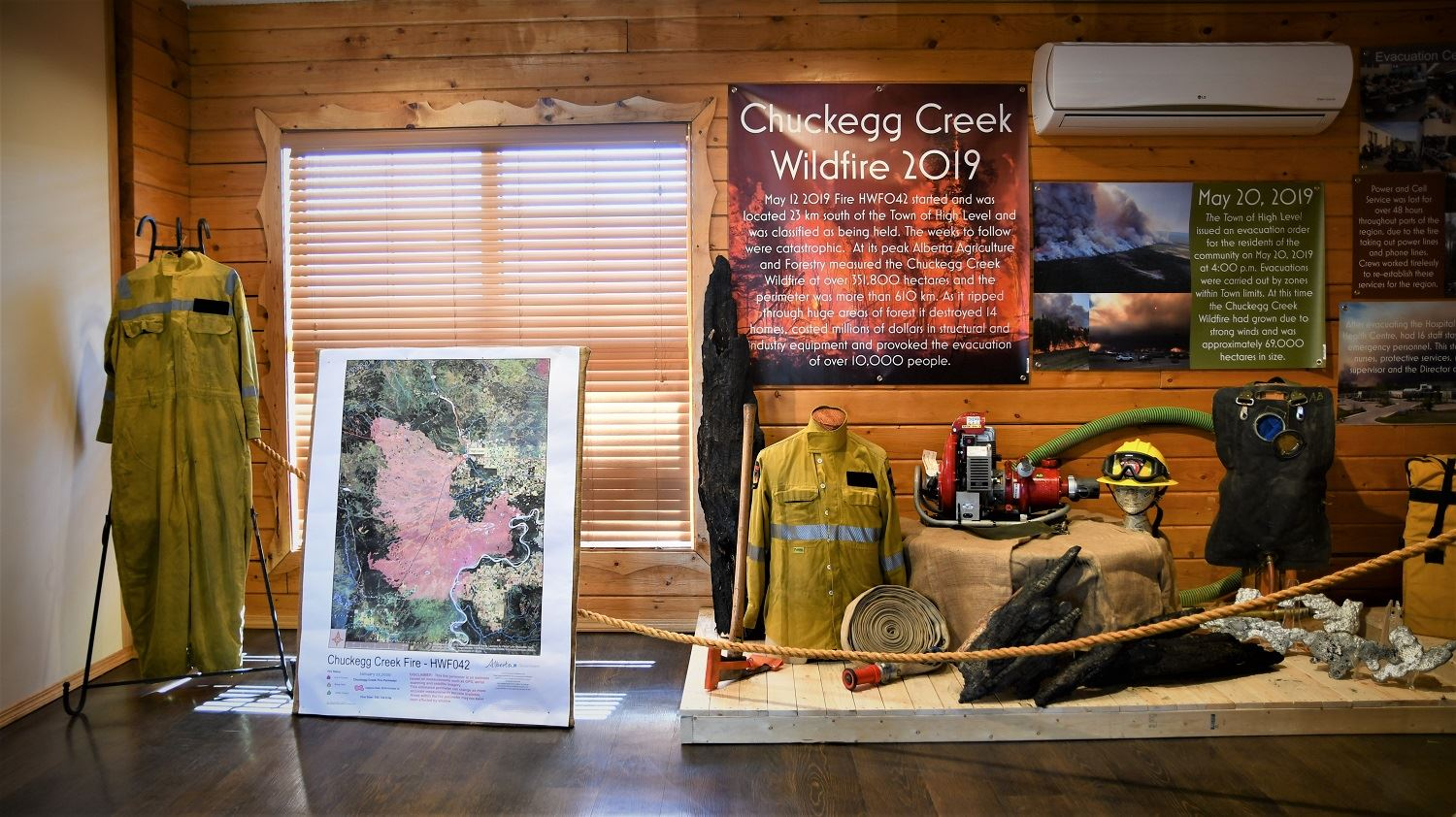 Chuckegg Creek Wildfire Exhibit at the Mackenzie Crossroads Museum - Part 1